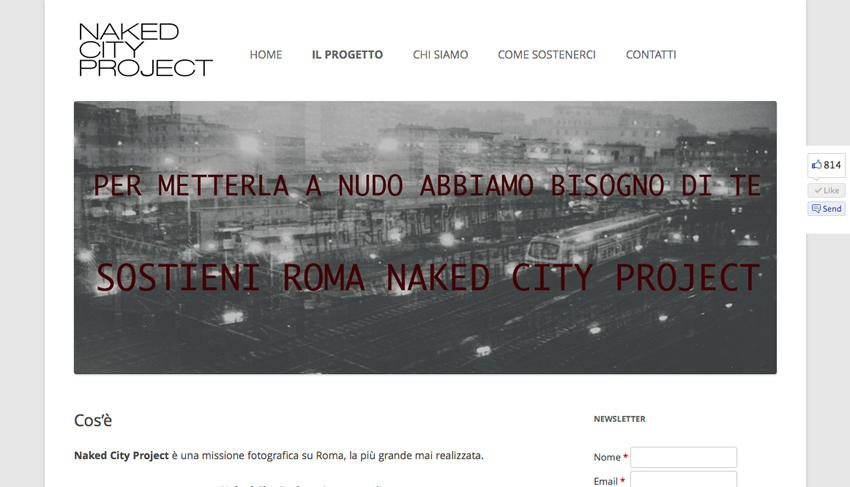 La home page del sito di Naked City Project